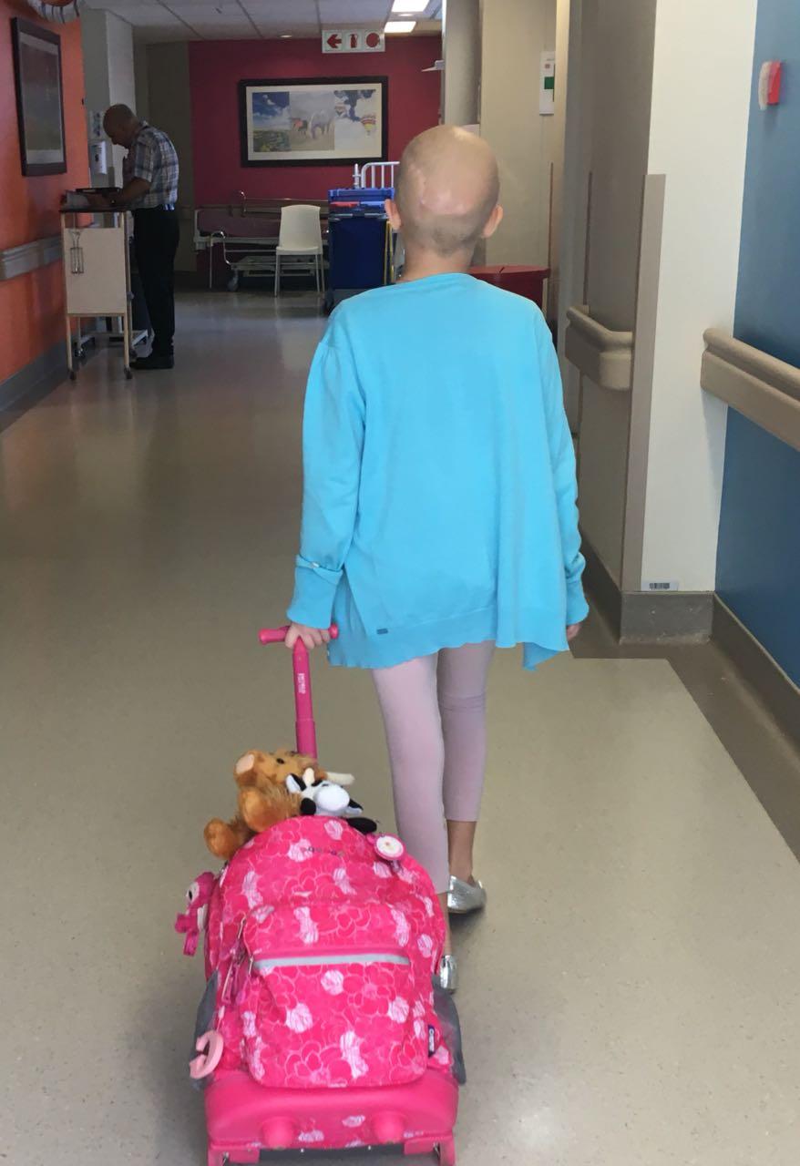 Georgie Leaving Hospital