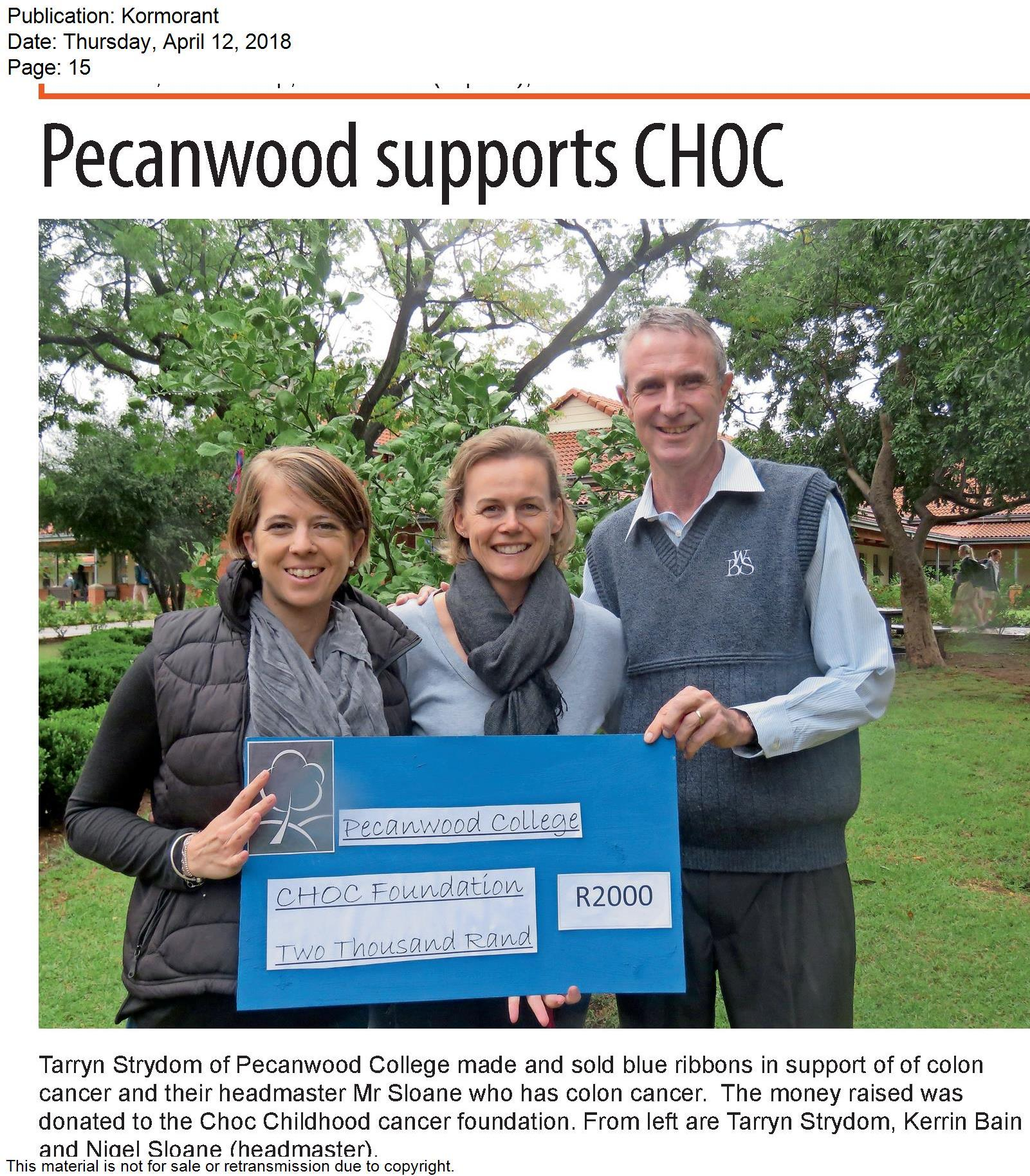 Pecanwood Donation