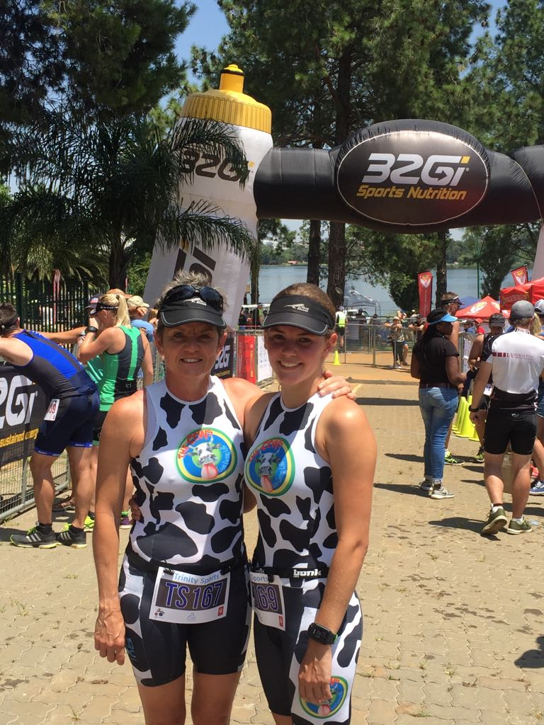 Trinity Tri 2018 Jan - Reegs and Karen