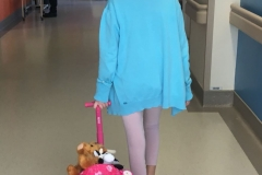 Georgie Leaving Hospital